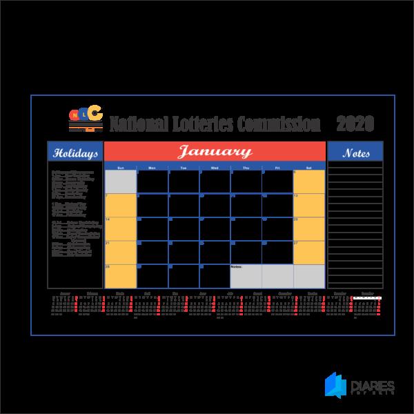 2020 deskpads calendars